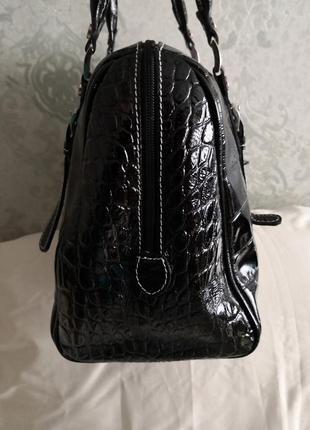 Шикарная большая кожаная сумка vera pelle, италия6 фото