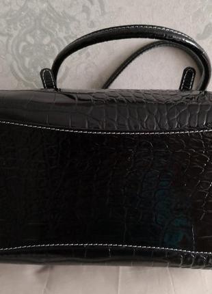 Шикарная большая кожаная сумка vera pelle, италия7 фото