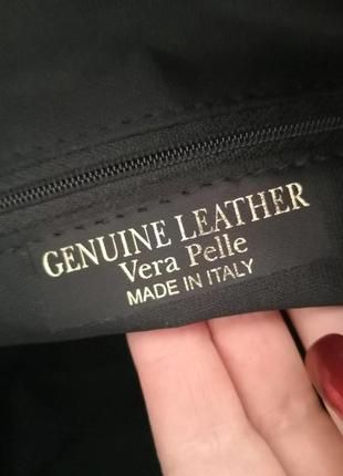 Шикарная большая кожаная сумка vera pelle, италия9 фото