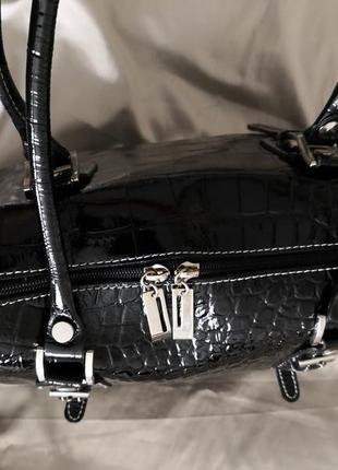 Шикарная большая кожаная сумка vera pelle, италия10 фото