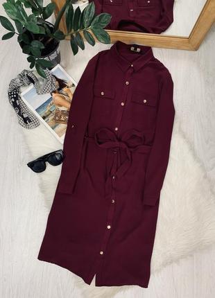 Плаття кольору бордо на ґудзиках🖤🖤🖤