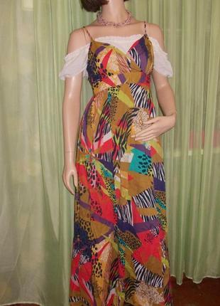 Оригинальный сарафан из плотной ткани с абстрактным принтом ♥ завоз осень 2019 ♥