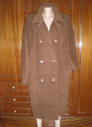 100% лама пальто max mara) oversize
