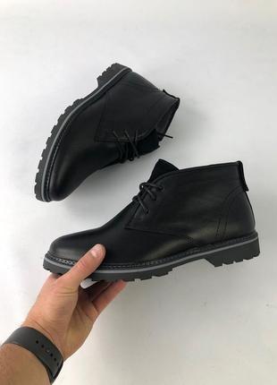 Мужские ботинки зима на меху кожаные очень стильные шикарного качества