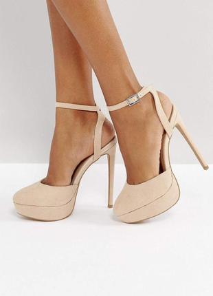 Туфлі asos туфли з закрытым носком на каблуке