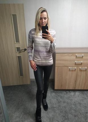 Женский вязаный свитер , кофта полосатая