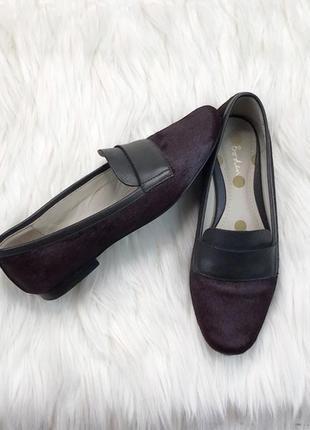 Балетки, лоферы, туфли  мех пони boden