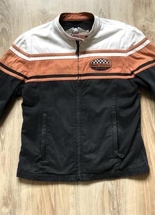 Текстильная куртка мотокуртка harley davidson мотоэкипировка байкерская