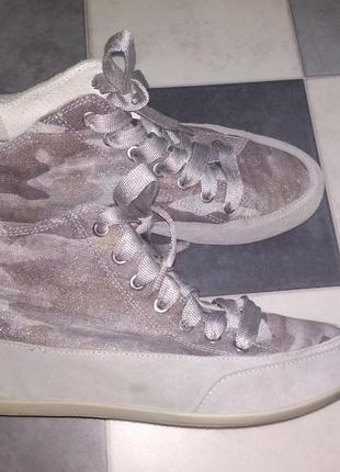Шикарные ботинки сникерсы италия кожа текстиль