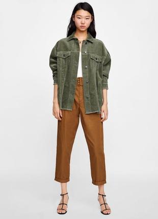 Крутая вельветовая оверсайз куртка джинсовка от zara