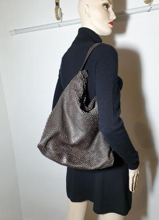 Кожаная итальянская сумка на плечо gianni chiarini