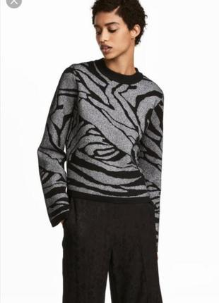 Глиттерный свитер с широкими рукавами h&m