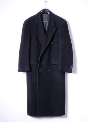 Люксовое темно-синее двубортное пальто,100% шерсть, оригинал, бренд