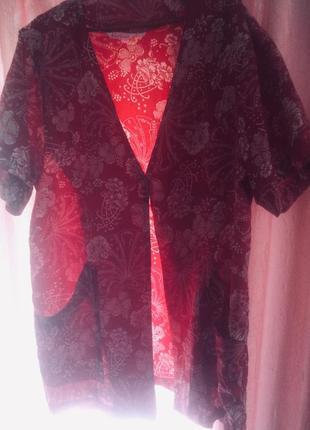 Шёлковая рубашка-накидка цвета вина 🌹
