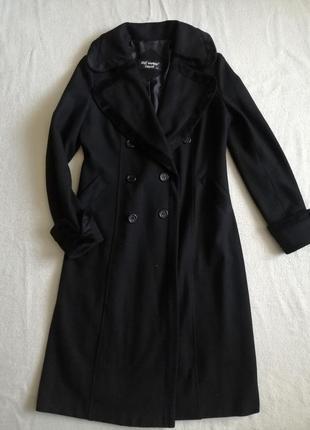 Идеальное шерстяное двубортное пальто миди, шерсть