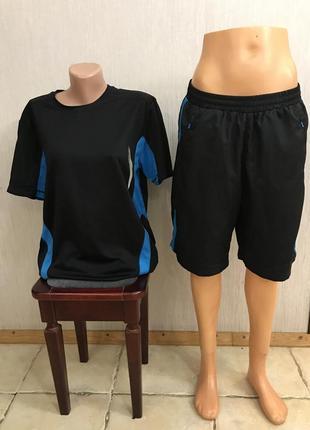 Отличный фирменный костюм шорты/футболка tchibo р.м/l