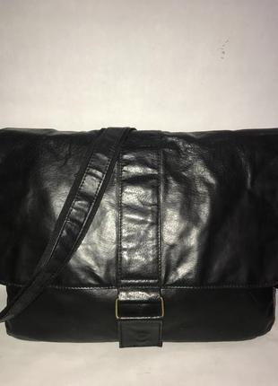 Большая мужская кожаная сумка через плечо cedarwood state. формат а-4