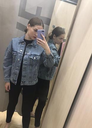 Джинсовка куртка bershka