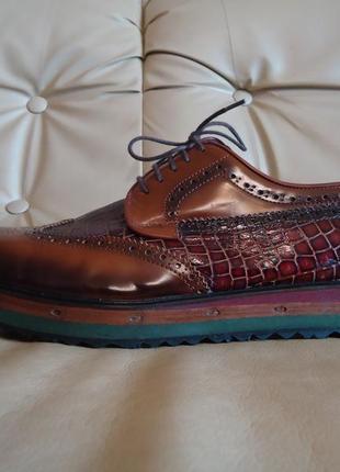Туфли натуральная кожа новые 46-47 броги оксфорды