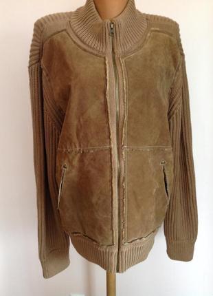 Тёплая комбинированная  мужская курточка- кардиган. xl/ brend scotch& soda