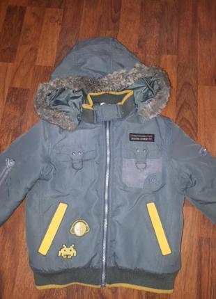 Теплая зимняя куртка chicco 110