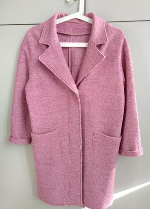 Шерстяное пальто oversize p.xs(34)