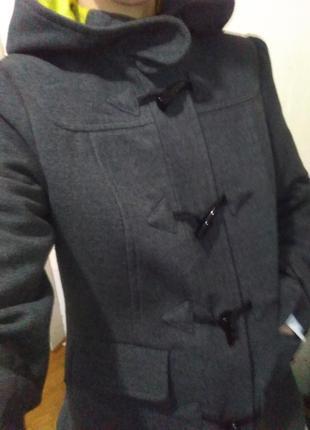 Пальто, серое на осень-весна, тёплое, красивое