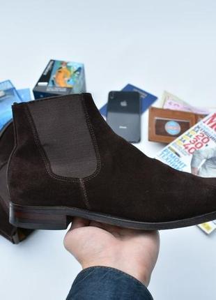 Alfred sargent оригинал!! мужские замшевые туфли ботинки размер 42 made in england