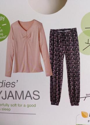 Вторая кожа. шикарная женская пижама домашний костюм, модал, esmara германия, реглан штаны