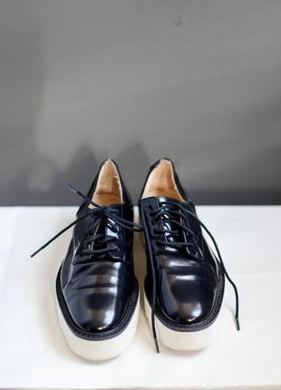 Темно-синие туфли zara