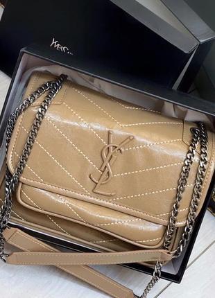 Клатч сумочка кожа лоран