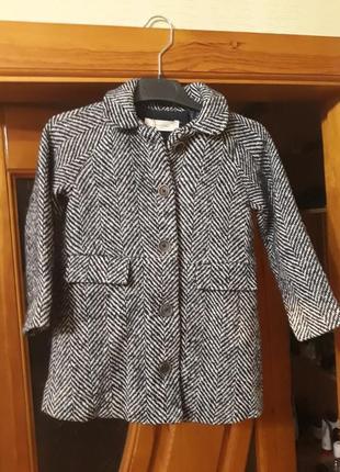 Новое кашемировое пальто манго на девочку 5-6 лет