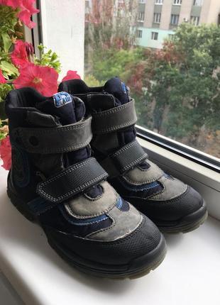 Зимние фирменные ботинки primigi на мальчика. размер 36, стелька 23 см