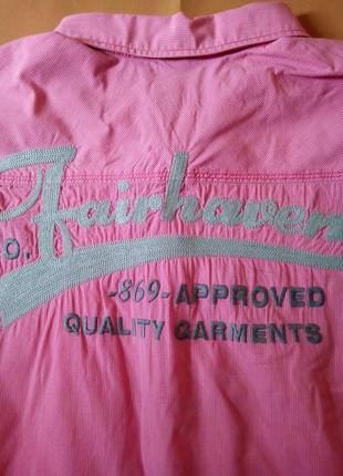 Стильная рубашка с коротким рукавом, батал, большой размер