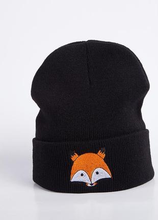 13-126 стильна модна шапка з лисичкою