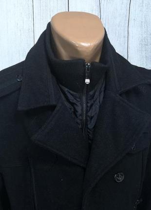 Пальто стильное brave soul, черное, казуальное3 фото
