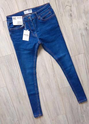 Новые с бирками мужски джинсы  30 pазмер (синие)super skinny