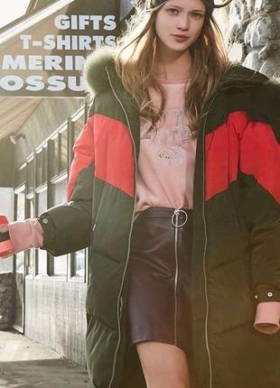 Молодежный  теплющий зимний пуховик кокон куртка на пуху only