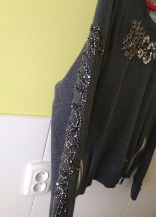 Свитшот с вышивкой из бисера от superdry