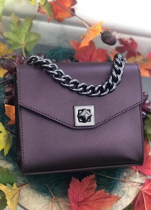 Кожаная сумочка из новой коллекции италия сумка клатч на цепочке
