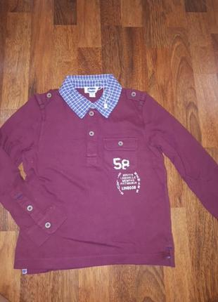 Новое поло рубашка chicco 116