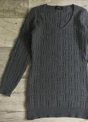 Удлинённый свитер женский платье yendi с м