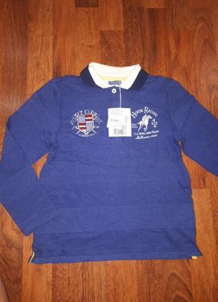 Новая рубашка поло chicco 116