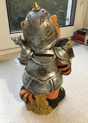 Копилка тигр рыцарь фен-шуй2 фото