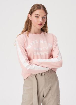 Новая широкая розовая кофта светло-розовый свитшот sinsay будите после выпуска xs s m l xl1 фото