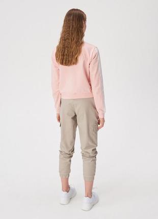 Новая широкая розовая кофта светло-розовый свитшот sinsay будите после выпуска xs s m l xl3 фото