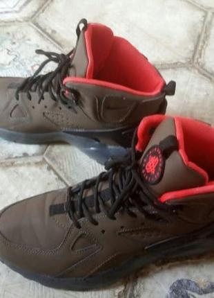 Nike air huarache winter haki, мужские кроссовки осень/зима.