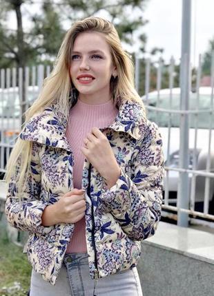 Куртка цветочный принт