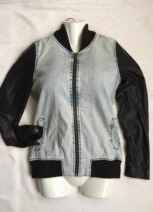 Стильная джинсовая курточка пиджак жен раз xs (42)