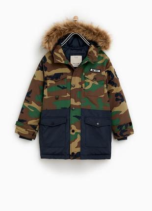 Теплая куртка парка zara 164